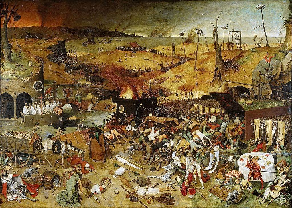Quadro que retrata a Peste Bulbônica (Foto: Reprodução/Wikimedia Commons)