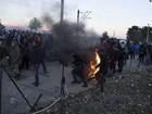 Imigrante morre em confrontos na fronteira entre Grécia e Macedônia