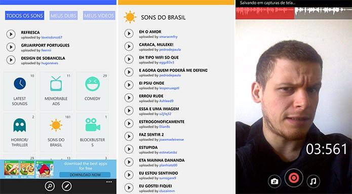 Dubsmach é um cliente completo do Dubsmash para Windows Phone (Foto: Reprodução/Elson de Souza)