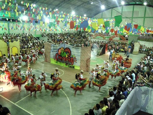 Festival de Quadrilhas Juninas da Inter TV Cabugi acontece na cidade de Monte Alegre, RN (Foto: Leonardo Rosado/ Inter TV Cabugi)