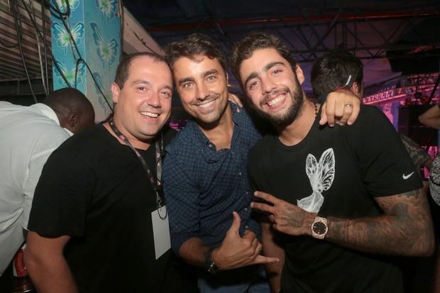Michel Diamant, Ricardo Pereira e Pedro Scooby (Foto: Reginaldo Teixeira/Divulgação)