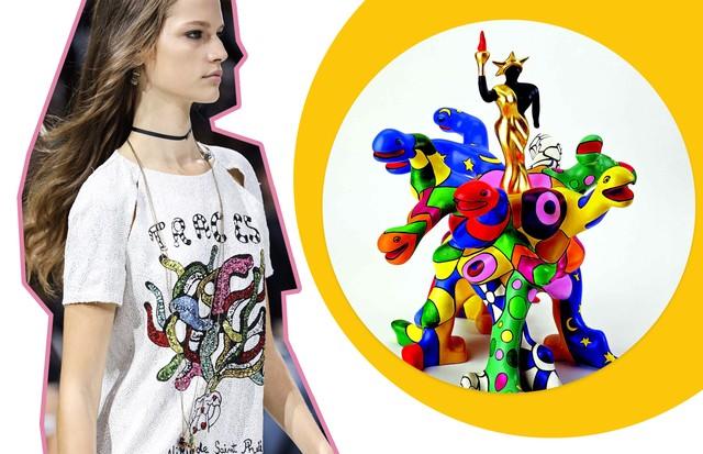 Dior e Niki de St Phalle (Foto: Reprodução)