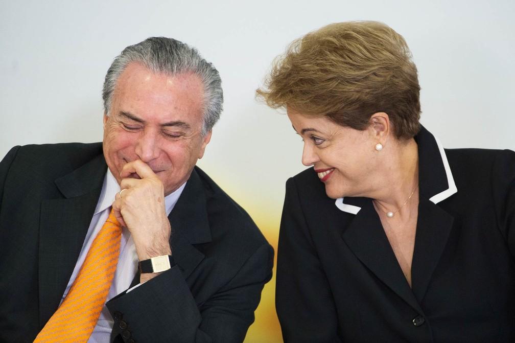 Michel Temer e Dilma Rousseff, durante cerimônia em junho de 2015 (Foto: Marcelo Camargo/Agência Brasil)