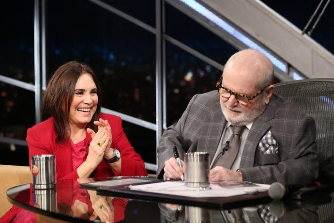 Em entrevista, Regina disse que adora acumular coisas (Foto: Carol Caminha/Gshow)