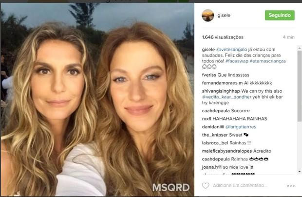 Gisele Bündchen e Ivete Sangalo (Foto: Reprodução/Instagram)