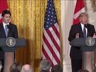 Trump se gaba de ter enganado primeiro-ministro do Canadá