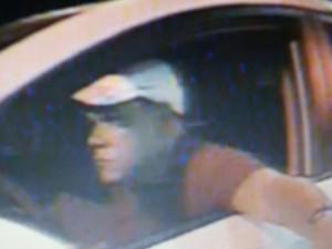 Câmeras de segurança capturam imagem de assaltante a carro de inspetor da PRF (Foto: Divulgação/Polícia Rodoviária Federal)