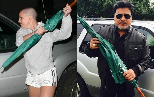 Paparazzo Daniel Ramos com guarda-chuva de ataque de fúria de Britney Spears (Foto: Daniel Ramos e Drop Zone Films/LLC)
