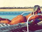 Cristianne Rodrigues faz topless e é clicada pelo marido, Kadu Moliterno