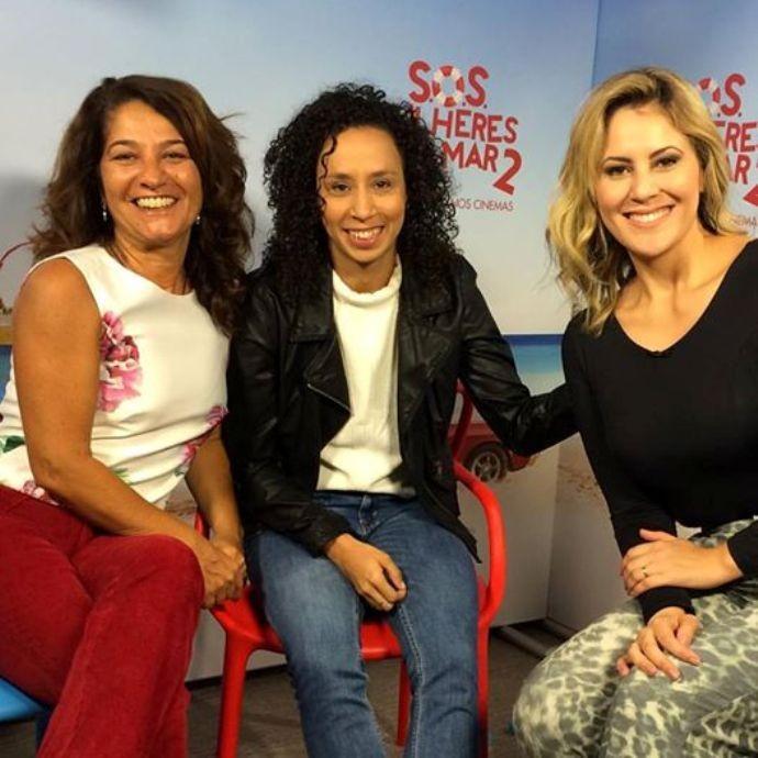 A diretora Cris D'Amato, Thalita Carauta e Jessica Leão  (Foto: Reprodução / TV Diário)