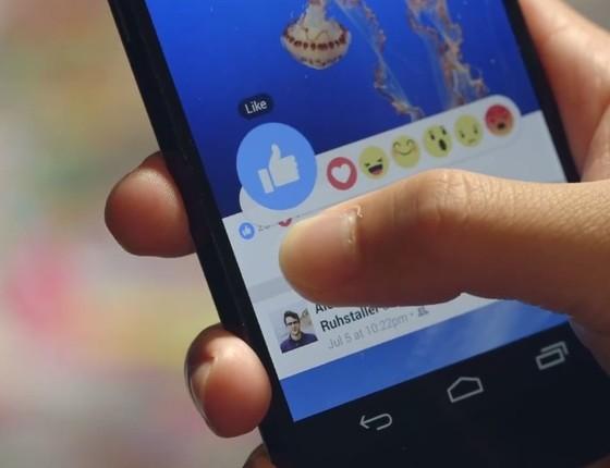 Facebook Reactions: serão sete emoticons para expressar as emoções (Foto: reprodução/Facebook)