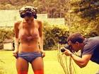 Confira imagens do making of do Paparazzo da Deusa de 'Fina Estampa'