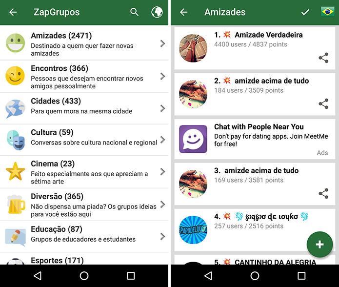 Grupos temáticos são abertos para qualquer pessoa que tem o app instalado (Foto: Reprodução/Paulo Alves)