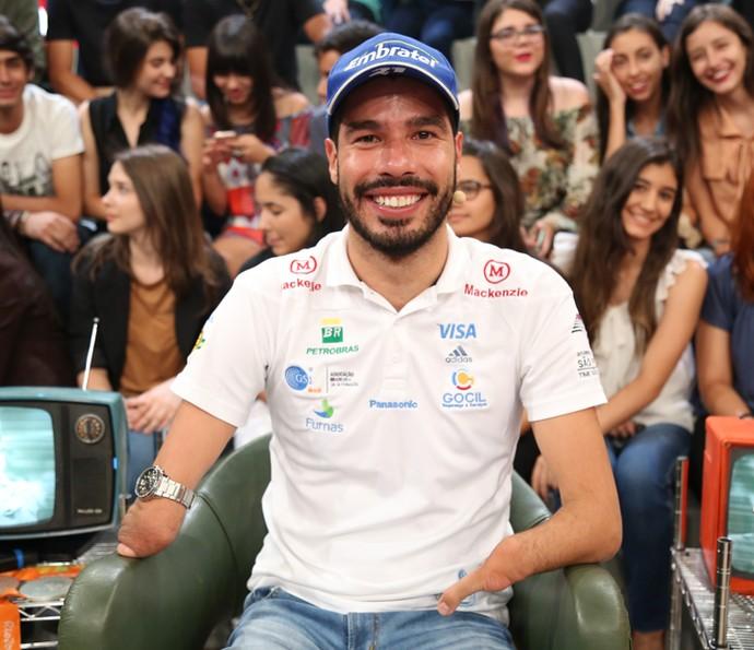 Daniel Dias participa da gravação do 'Altas Horas' (Foto: Carol Caminha/Gshow)