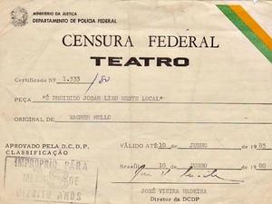 Documentos que mostram a relação das artes com a ditadura serão expostos  (Foto: Divulgação)