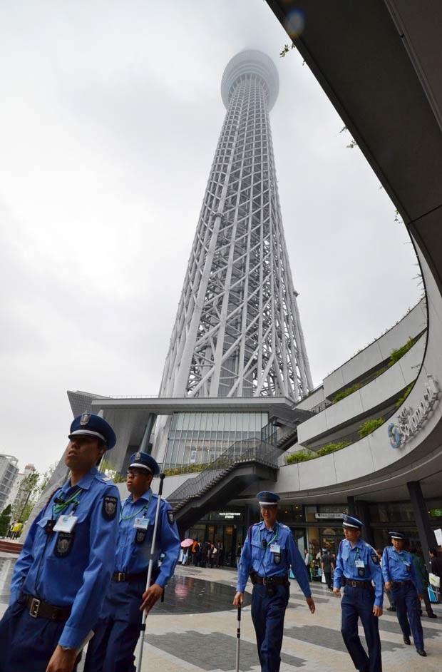 A Tokyo Sky Tree nesta terça-feira (22) (Foto: AFP)