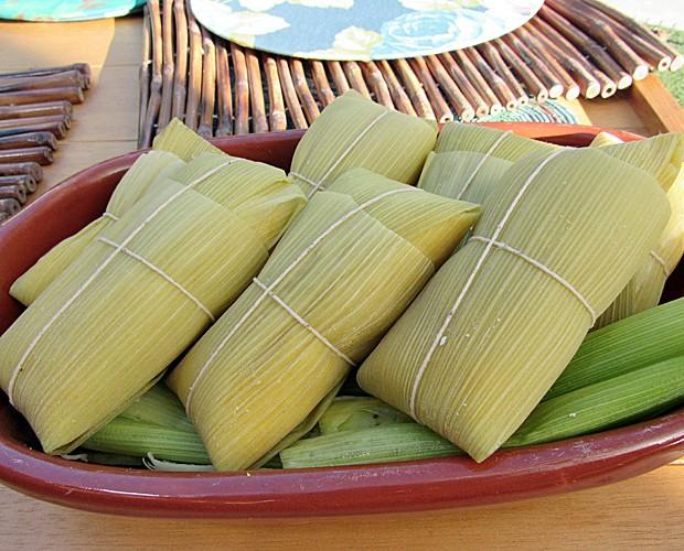 Pamonha é feita com milho e coco (Foto: Mais Você/Gshow)