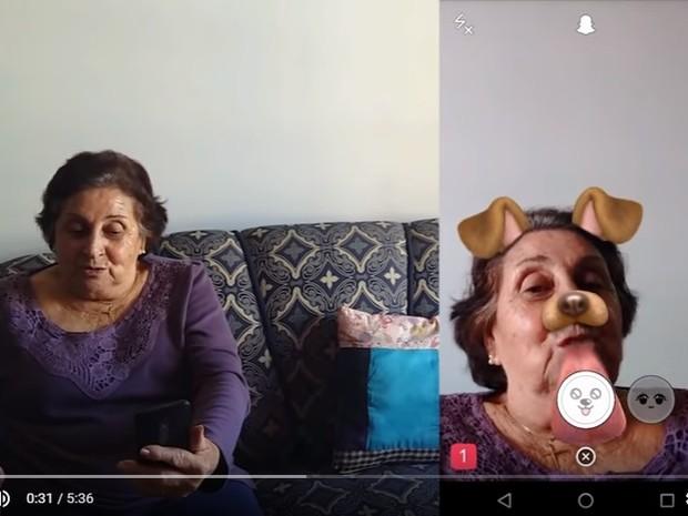 Snapchat idosos São Carlos (Foto: Produção)