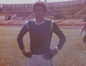 ex-goleiro Déo, do Brasília, no estádio Mané Garrincha (Foto: Arquivo Pessoal)