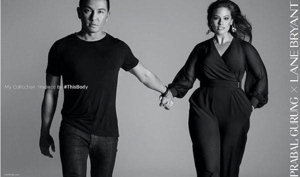 Ashley Graham e Prabal Gurung (Foto: Reprodução Instagram)