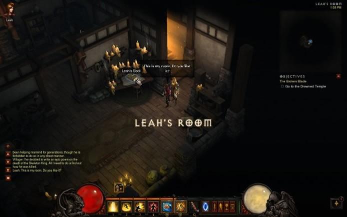 Cada missão cumprida em Diablo 3 irá desbloquear novas páginas do diário da personagem Lea (Foto: Reprodução/Blizzard)