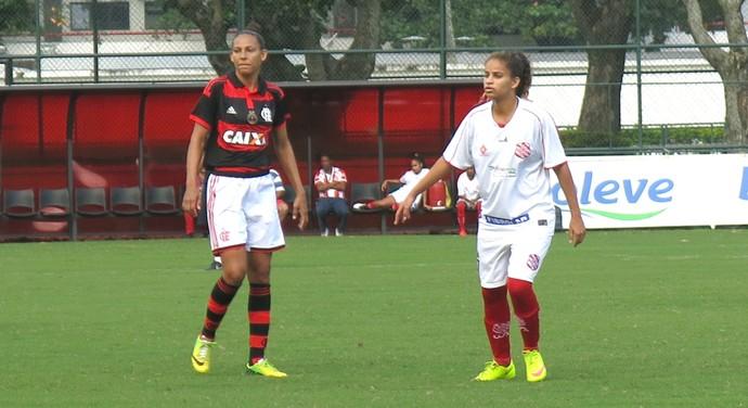 Vigia marcou seis gols no jogo Flamengo x Bangu feminino (Foto: Jessica Mello / GloboEsporte.com)