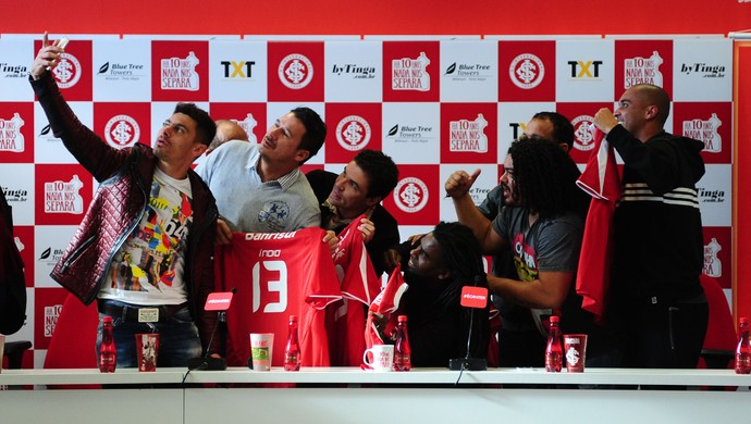 Internacional Inter selfie Alex Inter Libertadores 2006 (Foto: Ricardo Duarte/ Divulgação Inter)