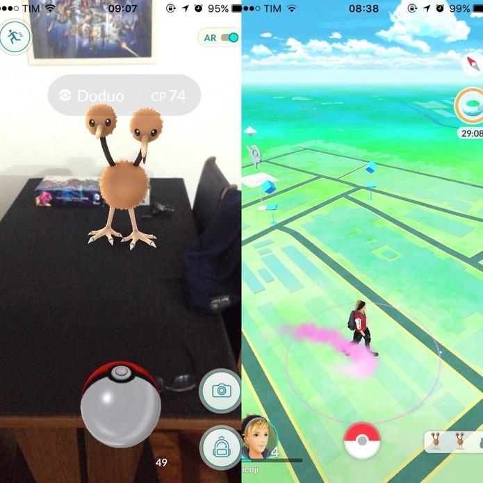 É preciso andar bastante em Pokémon Go (Foto: Reprodução/Felipe Vinha)