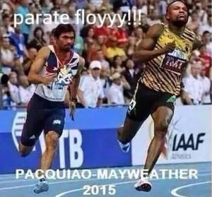 Zoação Mayweather x Pacquiao (Foto: Reprodução / Twitter)
