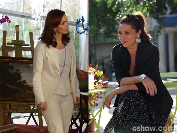 O blazer visita várias produções das irmãs Helena e Clara  (Foto: Em Familia; Carol Caminha/TVGlobo)