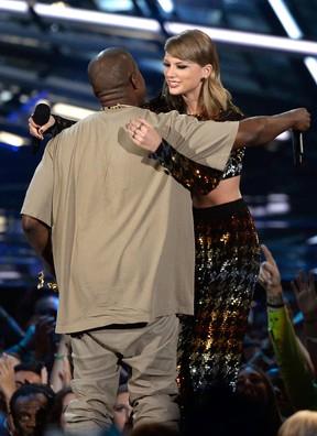 Kanye West e Taylor Swift (Foto: Getty Images / AFP)