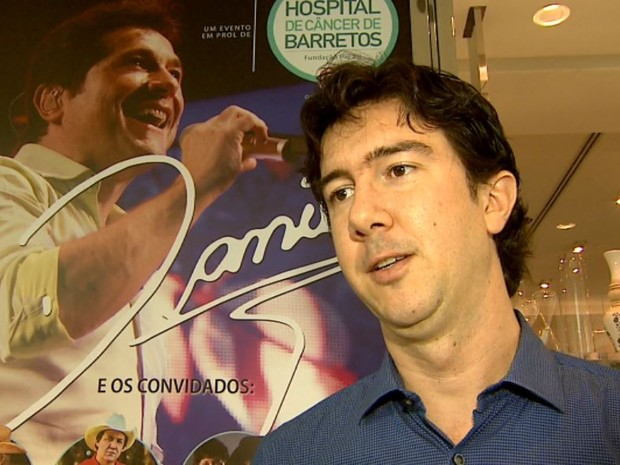 O produtor rural e voluntário, Marcelo Galvão, organiza shows em prol do hospital (Foto: Reprodução/EPTV)