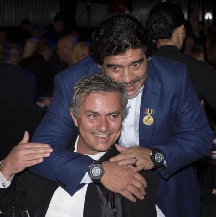 José Mourinho e Diego Maradona