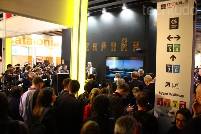 Conferência de lançamento do Blackphone (Foto: Allan Melo/ TechTudo)