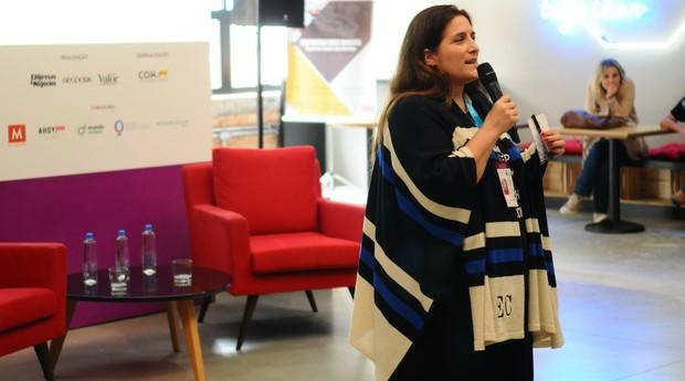 Elena Crescia no Festival de Cultura Empreendedora (Foto: Rafael Jota)