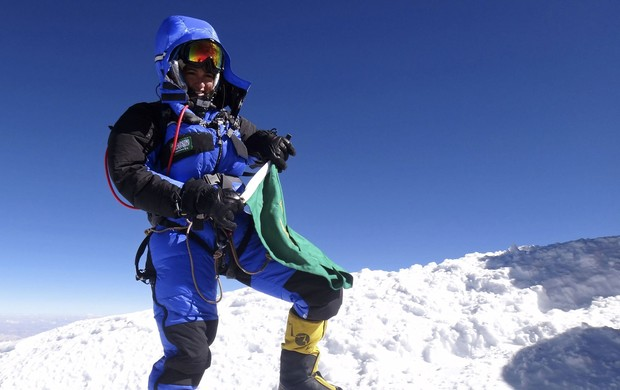 Fllavinha Mohamad Mulher Arábia Saudita Everest (Foto: EFE)