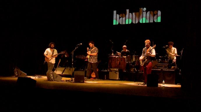 """""""EMME' esteve no show de lançamento do primeiro CD da Babulina (Foto: Divulgação / TV Gazeta ES)"""