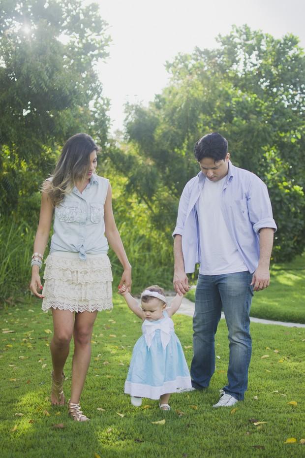 Karla, sua filha Carol e seu marido Natanael Amorim (Foto: Pitanga Fotografia/Gabriela Barros)