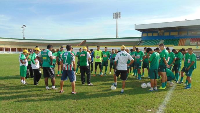 RN - Baraúnas relaciona 20 jogadores para enfrentar o América-RN, em Natal (Foto: Yhan Victor/Divulgação)