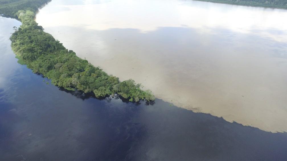 Rio Mamoré e Pacaás se encontram em Guajará-Mirim (Foto: Emanoel Javoski/Arquivo Pessoal)