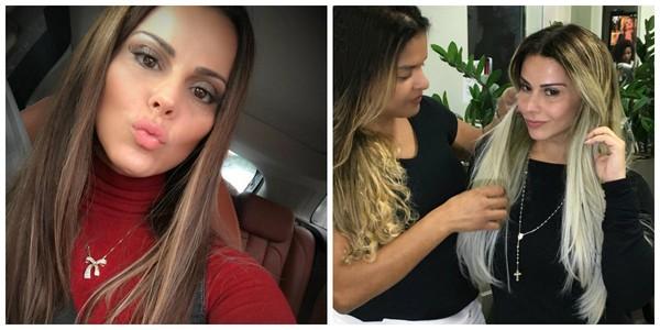 Viviane Araújo demorou dois dias para ficar loira platinada