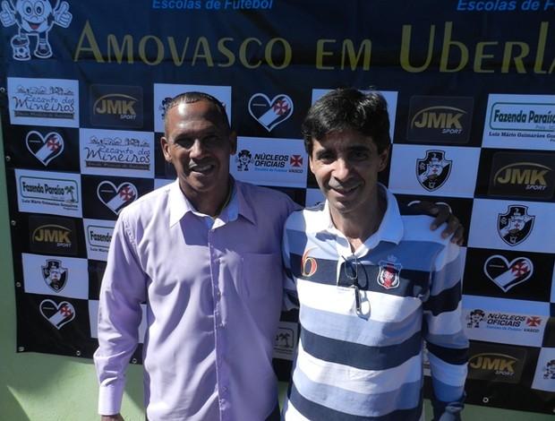 Peneirada Vasco Uberlândia - Vivinho e Mauro Galvão prestigiaram os jovens atletas que sonham em jogar no Vasco (Foto: Diego Alves)
