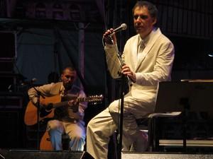 Ex-Titãs, Arnaldo Antunes se apresenta no Vale do Anhangabaú em comemoração ao aniversário de São Paulo (Foto: Paulo Toledo Piza/G1)