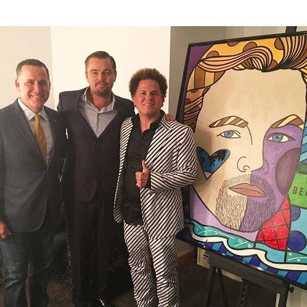 Leonardo DiCaprio e Romero Britto (Foto: Reprodução/Instagram)