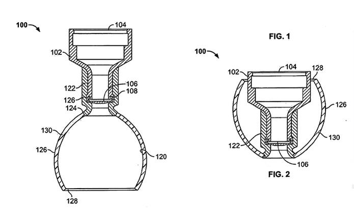Modelo de fone de ouvido com patente registrada pela Apple (Foto: Divulgação/USA Patent)
