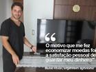 Agrônomo junta R$ 1,7 mil em moedas e compra televisão