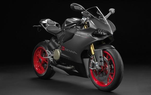 As cores da série especial da Ducati foram escolhidas por Ayrton Senna (Foto: Divulgação)