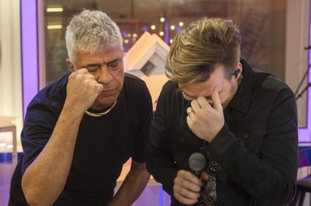 Lulu Santos e Michel Teló (Foto: Mauricio Fidalgo/ TV Globo)