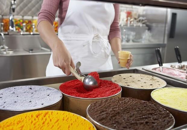 Serviço ; sorvete ; emprego temporário ;  (Foto: Reprodução/Facebook)