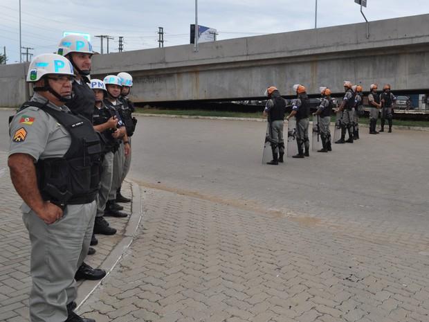 Cerca de 300 policiais fizeram a segurança do Gre-Nal (Foto: CPC/Divulgação)